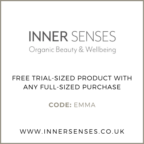 Inner Senses Promotion/Free  Gift with Purchase (Trial sized product with every full size purchase). Code: EMMA