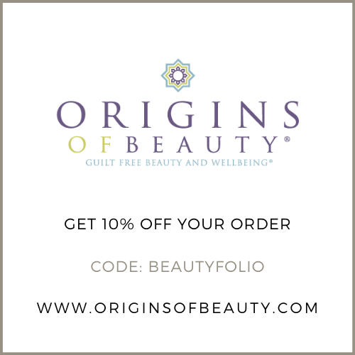 Get 10% off at Origins of Beauty with the code BEAUTYFOLIO or click here