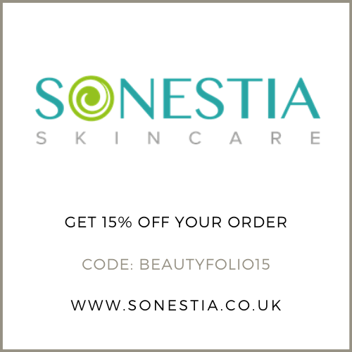 Get 15% off at Sonestia Skincare with the discount code BEAUTYFOLIO15