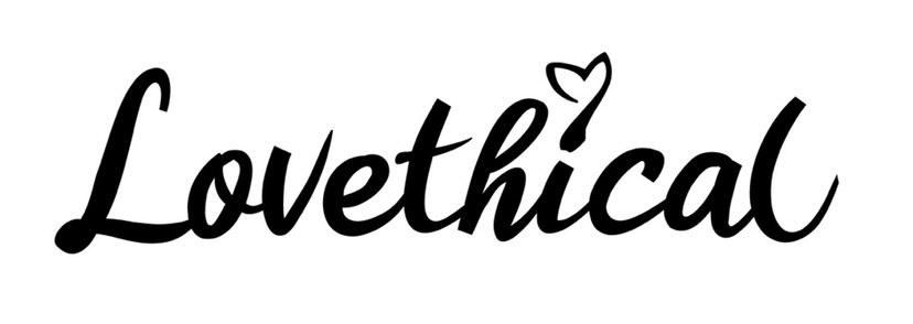 Lovethical logo in black and white