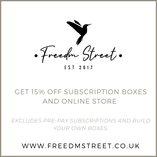 Get 15% off discount code/promo code at Freedm Street - valid on subscription boxes and online store.