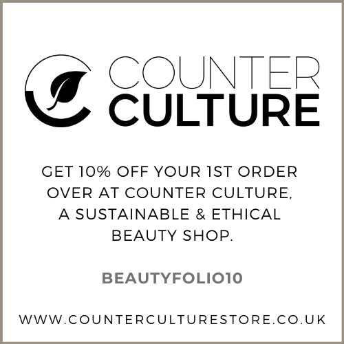 Get 10% off your Counter Culture Store order - link on Beauty Folio Natural Beauty Blog